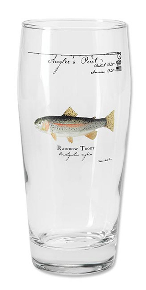 Orvis Angler's Pint Glass/Only Angler's Pint Glass, Each, Rainbow