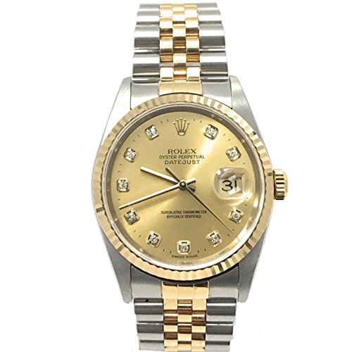 Rolex Datejust swiss-automatic mens Watch 16233 (Certified Pre-owned) (Authentic Rolex Men For Watches)