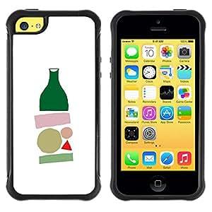 Suave TPU GEL Carcasa Funda Silicona Blando Estuche Caso de protección (para) Apple Iphone 5C / CECELL Phone case / / bottle minimalist modern art white /
