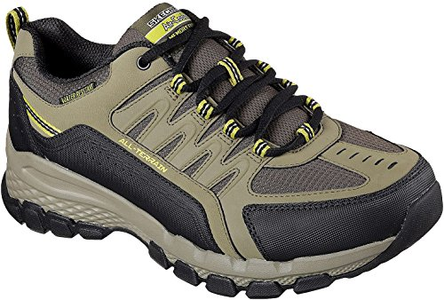Skechers Mens Relaxed Fit: Outland 2.0 - Rip-Staver Sneaker, Olive/Black, Size 11