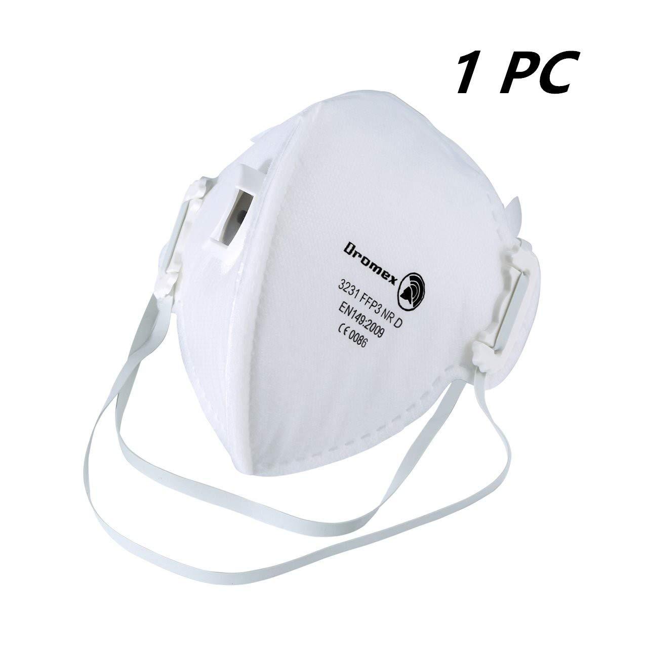 Mascarilla antipolución FFP3 Mascarilla N95 N99, con válvula de Capas Filtro FFP3 98% Bacterias Anti PM2.5 Neumonía Protección contra la Gripe Máscara de poluci&oacu