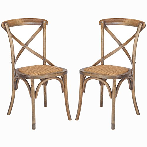 Poly and Bark Cafton Crossback Chair in Walnut (Set of 2) (Cross Kitchen Chairs Back)