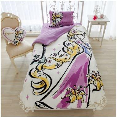Disney Rapunzel duvet cover, sheets, pillow case three-piece set single