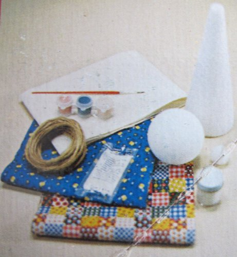 Avalon Original HOLLY HOBBIE DOLL MAKING Complete KIT Makes 9-1/2'' DECORATIVE DOLL Requires NO Sewing (1976) by The Original Holly Hobbie Doll Making Kit (Image #2)