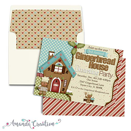 House Invitations Gingerbread Party (Gingerbread House Decorating Party Invitation)