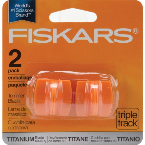 Fiskars 157400-1001 Titanium TripleTrack High Profile Cutting Replacement Blades]()
