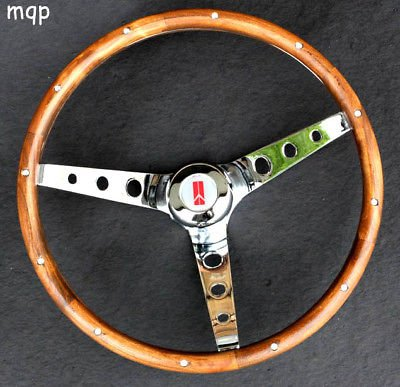 "Oldsmobile Cutlass 1969-1993 442 GRANT Walnut Wood 15"" Steering Wheel Chrome"