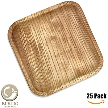 Palm Leaf Plates 10\u201d | 25 Pack \u0026 Ebook | Eco Friendly Disposable Dinnerware by Rustic Earthware | Compostable \u0026 Biodegradable Plates Made of 100% Natural ...  sc 1 st  Amazon.com & Amazon.com: GREEN ATMOS 25 PACK - 9"|350|350|?|en|2|e08713efc1383a6c7b4968f7ef9fa0fe|False|UNLIKELY|0.32229331135749817