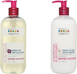 Nature's Baby Organics Lavender Chamomile Shampoo & Conditioner (Combo Pack, 32 Fl Oz)