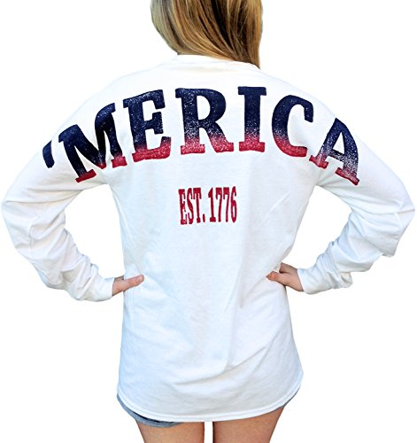 Delta Phi Epsilon X 'Merica Long Sleeve White XL