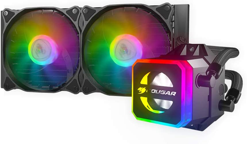 Cougar Helor CPU Liquid Cooling with Addressable RGB, Core Box v2 and a Remote Controller (240)