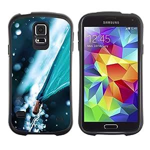 LASTONE PHONE CASE / Suave Silicona Caso Carcasa de Caucho Funda para Samsung Galaxy S5 SM-G900 / Umbrella Nature Weather Autumn