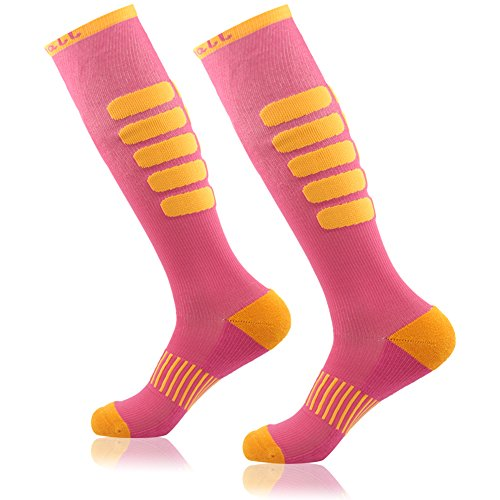 Graduated Compression Socks, Gmall Outdoor Sports Running Football Moderate (15-20mmHg) Performance Socks for Men and Women