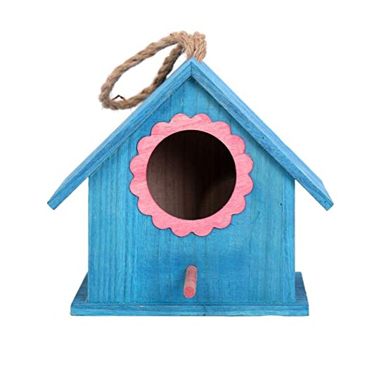 wovemster Casa De Madera para Pájaros Al Aire Libre, Nido De ...