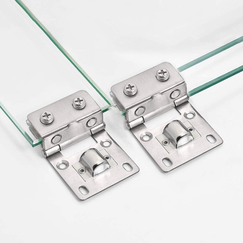 8 mm de Grosor de Cristal Bisagras de Acero Inoxidable Cristal Bisagras Puertas 2pcs PEAK-EU Para 5