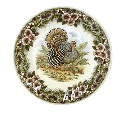 Churchill China Queenu0027s Myott Thanksgiving Turkey Dinner/Buffet Plates ...  sc 1 st  Amazon.com & Amazon.com | Churchill China Queenu0027s Myott Thanksgiving Turkey ...