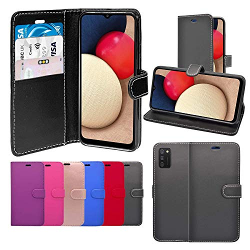 Case For Galaxy A02s Wallet Flip PU Leather Stand Card Slot Pouch Compatible With Galaxy A02s (Rose Gold)