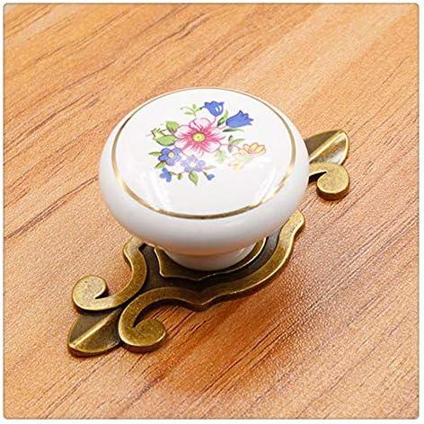 1PC Knob Cabinet Handle Ceramic Drawer Pull Door Single Hole Furniture Hardware