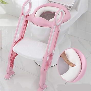 KALUNBS Aseo Escalera Asiento Escalera del tocador de niños Asiento para WC con escalón plegable Orinal Formación Color: Amazon.es: Bricolaje y herramientas