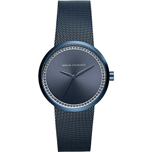 AX-Armani-Exchange-Street-Womens-Stainless-Steel-Mesh-Watch