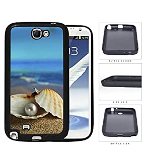 Pearl In Clam Seashell Beach Scenery Rubber Silicone TPU Cell Phone Case Samsung Galaxy Note 2 II N7100