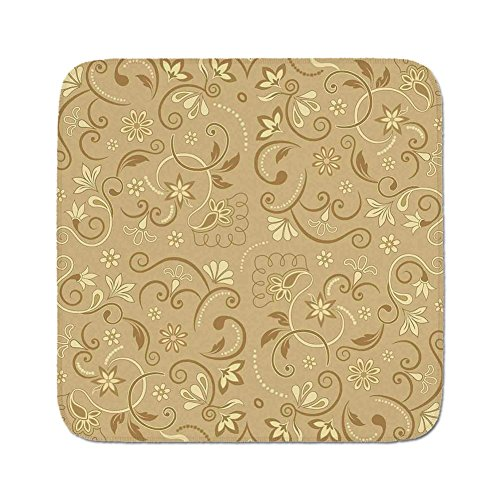 (Cozy Seat Protector Pads Cushion Area Rug,Beige,Swirling Flowers Vintage Style Feminine Floral Motifs Retro Edwardian Period Inspired Decorative,Mode Beige,Easy to Use on Any Surface)