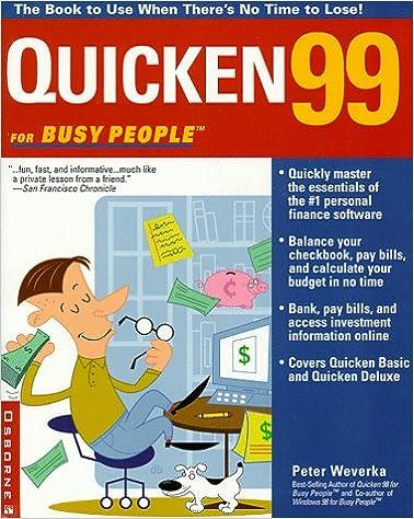 Lataa online-kirjoja ipadille Quicken99 for Busy People DJVU by Peter Weverka 0072119160