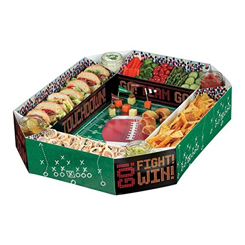 Football Frenzy Birthday Party Snack Stadium Tableware, Paper, 4