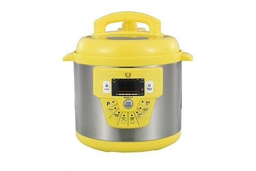 Cocina programable GM modelo E freidora y Voz - 6 litros cubeta ceramica Amarilla: Amazon.es: Hogar