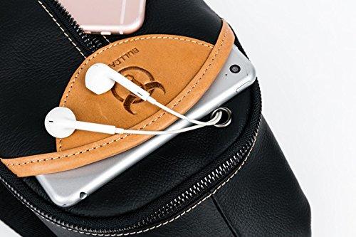 Rindleder Sling Rucksack Schleuder Tasche Herren, Novatech Brusttasche Umhängetasche Schultertasche,Umhängetasche,Brusttasche,Rucksack zum Wandern,Reisen,Freizeit oder Multipurpose Tagepacks
