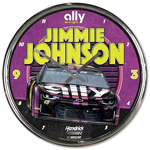 Win-craft Jimmie Johnson 2019 Ally Chrome Plated NASCAR Wall Clock from WinCraft