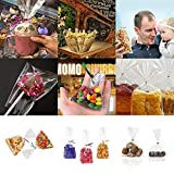 200 PCS Cellophane Gift Bags,Candy Bags with