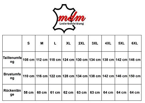 Biker Leder Kutte in braun (2XL)