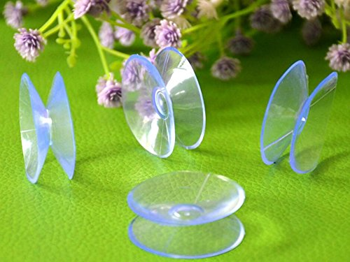 Jesica 10Pcs Double Sided Suction Cups for Glass Plastic