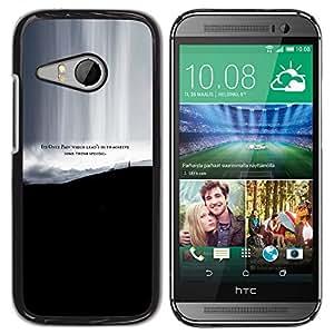 Qstar Arte & diseño plástico duro Fundas Cover Cubre Hard Case Cover para HTC ONE MINI 2 / M8 MINI ( Pain Some Thing Special Achieve Quote Life)