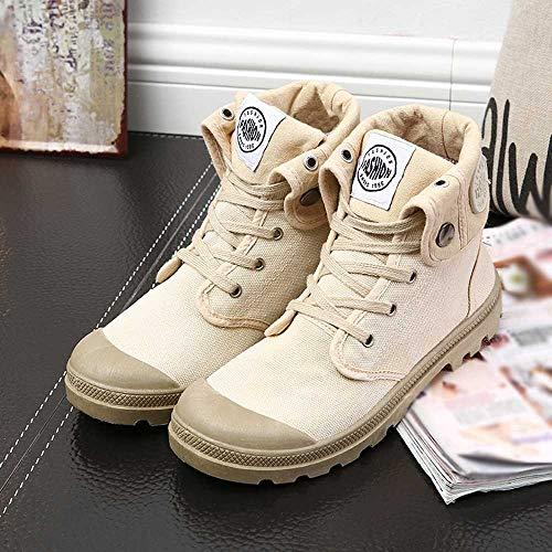 De Bottes Sport High Style Militaires Palladium Chaussures top Kaki Fashion Cheville Femmes 7d40w7