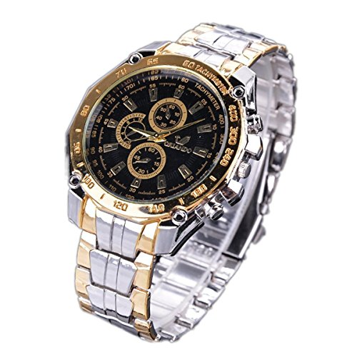 ThinIce Men Business Wrist Watch Stainless Steel Band Analog Quartz Outdoor Sport Wrist Watch by ThinIce...