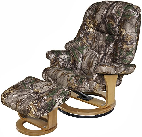 Relaxzen 8 Motor Massage Recliner with Heat and Ottoman, Realtree Camouflage