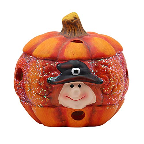 Shan-S Halloween 3D Led Table Pumpkins Lights Desk Lamp Party Halloween'S New Stereo LED Pumpkin Shape Glowing Decor Lights Table Decorations Funny Gift (Lamp Prices)