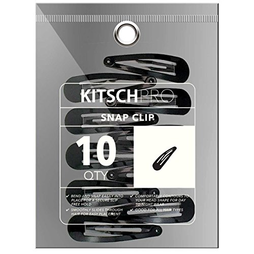 Kitsch Pro Snap Hair Clips, 10 Count (Black)