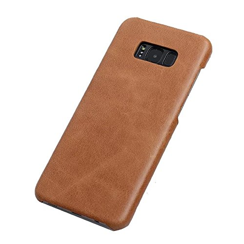 Genuine Cowhide Leather Case (Galaxy S8 (Made of Cowhide) Cover Case,Flying Horse Retro Style Matte Texture Luxury Genuine Leather [Ultra Slim Handmade] Case Cover For Samsung Galaxy S8 (Brown))