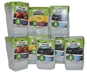 Arrow Plastics 30 Piece Freezer Storage Container Set