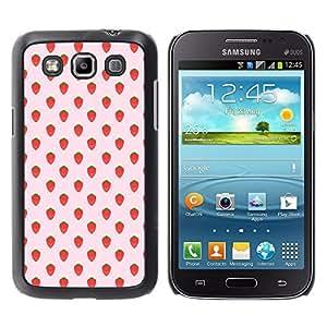 YOYOYO Smartphone Protección Defender Duro Negro Funda Imagen Diseño Carcasa Tapa Case Skin Cover Para Samsung Galaxy Win I8550 I8552 Grand Quattro - fresa patrón de papel tapiz de verano