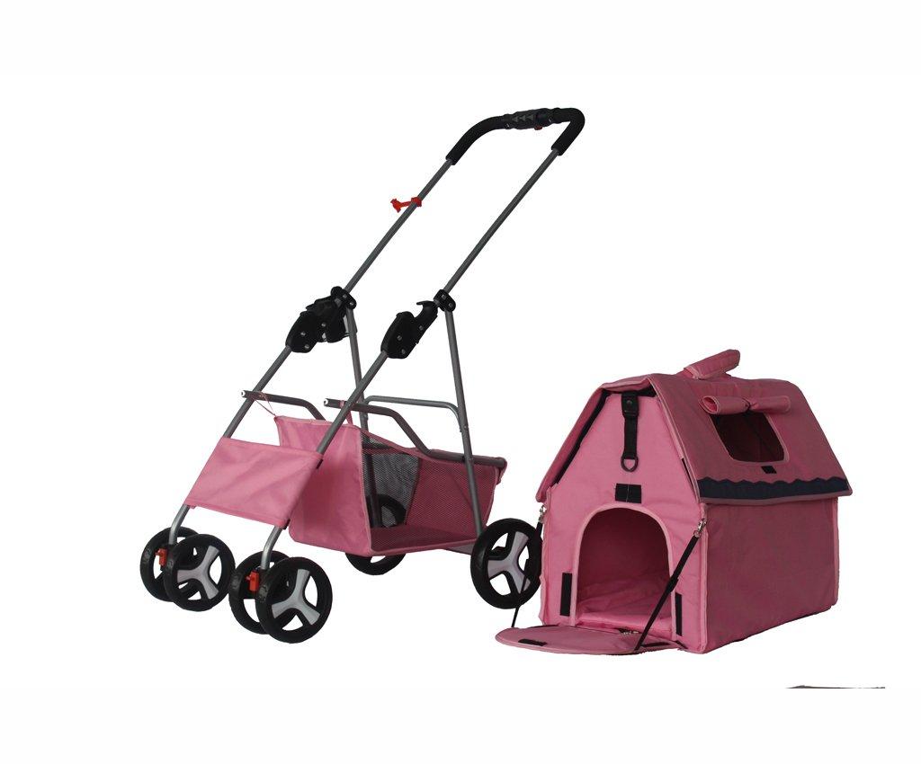 NAUY- Vierrädrige Haustier Auto Hund Cart Pet Trolley Faltbare Katze ...
