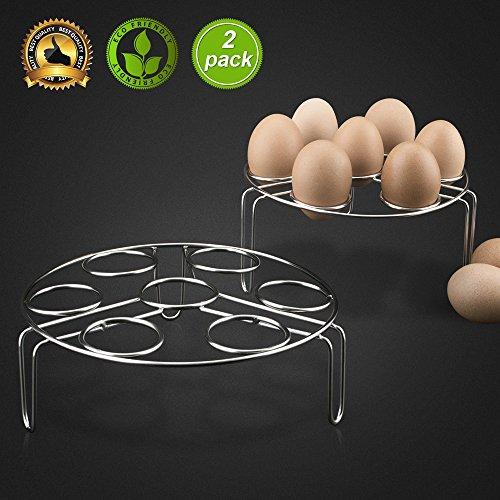 Egg Steamer Rack Cooker Holder Trivet Steam Rack for Instant Pot Stackable Vegetable Steaming Rack Stainless Steel Food Basket Stand on Kitchen for Pressure Cooker Accessories