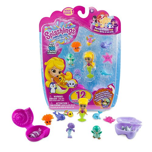 Splashlings Mermaid And Friends 12 Pack