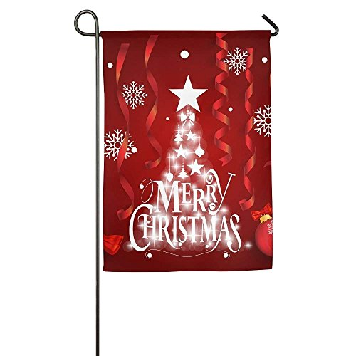 amuseds Christmas Greeting Card Merry Garden Flag Yard Decor