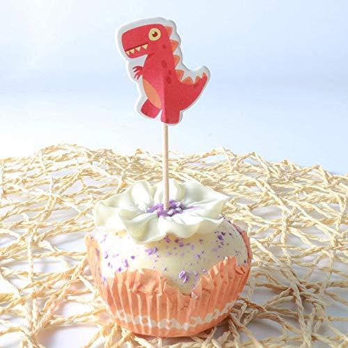 Cake Decorating Supplies - 24pcs Set Kawaii Cool Dinosaur Jungle Cupcake Per Baby Shower Boy Girls Birthday Wedding Party - Flowers Butter Corn Printer Beginners Rose Mold Carrier Supplie ()