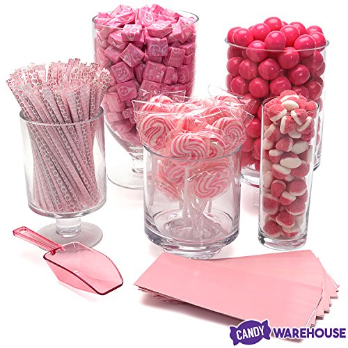 (Pink Candy Kit - Party Candy Buffet Table)