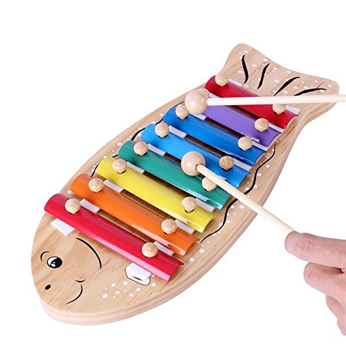 [1 pc Baby Educational Musical Instrument Toy Fish Piano Serinette Cartoon Fishlike Violin Toy Best Gifts For Preschool Kids Students] (Homemade Halloween Gifts For Students)